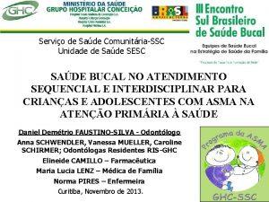 Servio de Sade ComunitriaSSC Unidade de Sade SESC