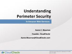 Understanding Perimeter Security In Amazon Web Services Aaron
