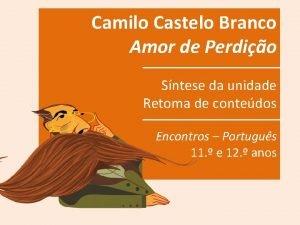 Camilo Castelo Branco Amor de Perdio Sntese da