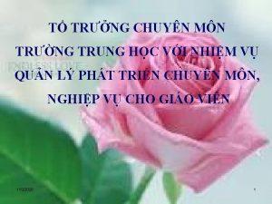 T TRNG CHUYN MN TRNG TRUNG HC VI