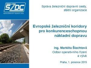 Sprva eleznin dopravn cesty sttn organizace Evropsk eleznin