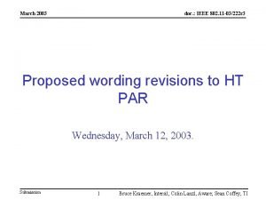 March 2003 doc IEEE 802 11 03222 r