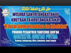 PROFIL SINGKAT Pondok Pesantren Tahfizhul Quran QORYATUL QURAN
