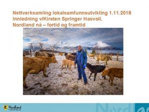 Nettverksamling lokalsamfunnsutvikling 1 11 2018 Innledning vKirsten Springer