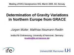 Meeting of NKG Geodynamics WG March 2006 AS