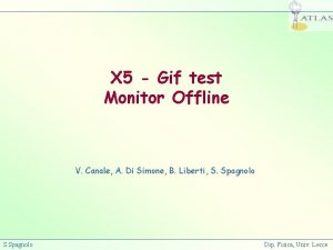 X 5 Gif test Monitor Offline V Canale