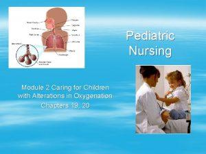 Pediatric Nursing Module 2 Caring for Children with