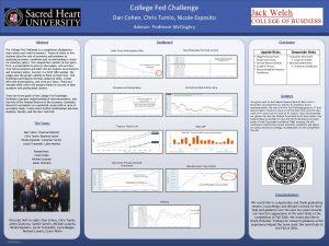 College Fed Challenge Dan Cohen Chris Tumio Nicole