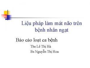 Liu php lm mt no trn bnh nhn