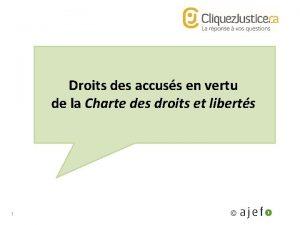 Droits des accuss en vertu de la Charte