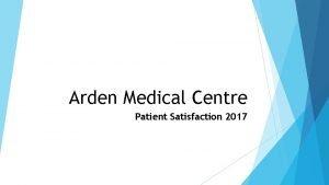 Arden Medical Centre Patient Satisfaction 2017 Questionnaire Responses
