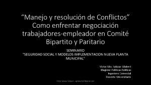 Manejo y resolucin de Conflictos Como enfrentar negociacin