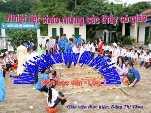 Gio vin thc hin ng Th Thoa Ting