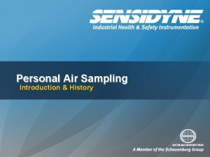 Personal Air Sampling Introduction History Goal of Personal