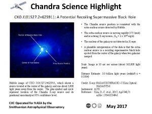 Chandra Science Highlight CXO J 101527 2625911 A