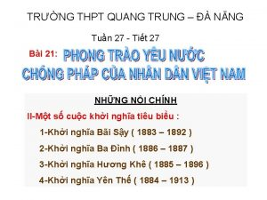 TRNG THPT QUANG TRUNG NNG Tun 27 Tit