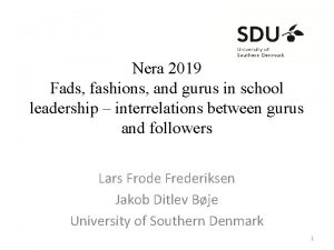 Nera 2019 Fads fashions and gurus in school