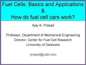 Fuel Cells Basics and Applications How do fuel