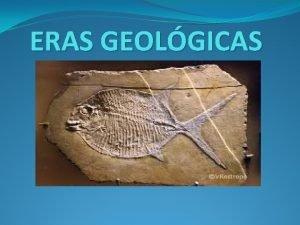 ERAS GEOLGICAS NDICE Era Precmbrica En Arcaico y