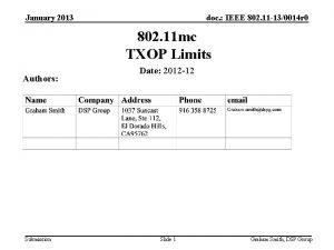 January 2013 doc IEEE 802 11 130014 r