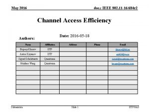May 2016 doc IEEE 802 11 16684 r