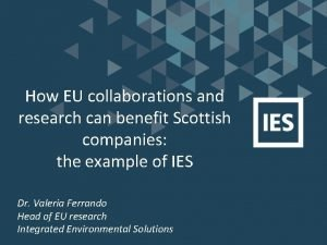 How EU collaborations and research can benefit Scottish