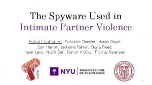 The Spyware Used in Intimate Partner Violence Rahul