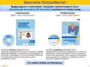 Besondere Schraubflchen Ergnzung zum multimedialen bilingualen deutschenglisch Buch