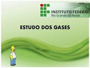 ESTUDO DOS GASES A Importncia do Estudo dos