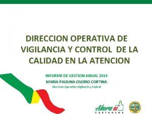 DIRECCION OPERATIVA DE VIGILANCIA Y CONTROL DE LA