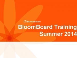 Bloom Board Training Summer 2014 Backpack Bingo 2