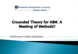 Grounded Theory for ABM A Meeting of Methods