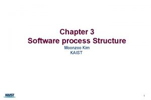Chapter 3 Software process Structure Moonzoo Kim KAIST