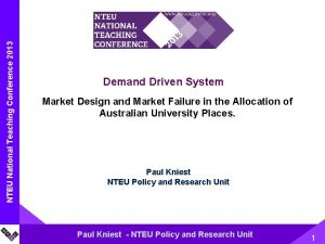 NTEU National Name Teaching of Presentation Conference 2013