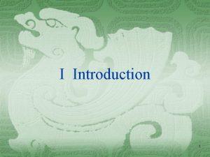 I Introduction 1 The term international multinational transnational