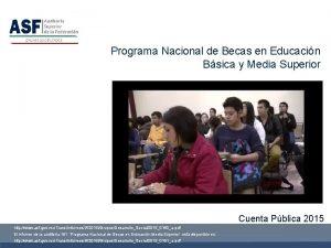 Programa Nacional de Becas en Educacin Bsica y