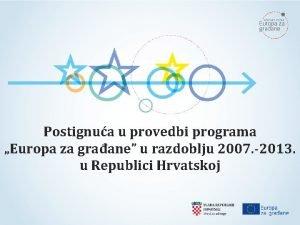 Postignua u provedbi programa Europa za graane u