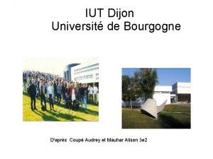 IUT Dijon Universit de Bourgogne Daprs Coup Audrey