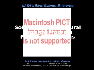 NASAs Earth Science Enterprise Solid Earth and Natural