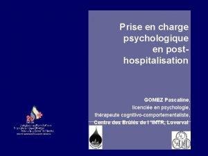 Prise en charge psychologique en posthospitalisation GOMEZ Pascaline