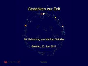 Gedanken zur Zeit 60 Geburtstag von Manfred Stckler