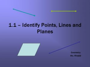 1 1 Identify Points Lines and Planes Geometry