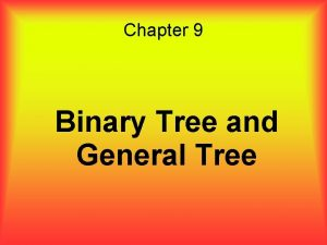 Chapter 9 Binary Tree and General Tree Overview