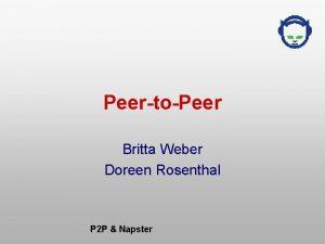 PeertoPeer Britta Weber Doreen Rosenthal P 2 P