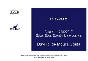RCC8005 Aula 4 12092017 tica tica Econmica e