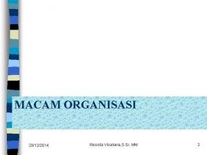 MACAM ORGANISASI 23122014 Resista Vikaliana S Si MM