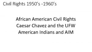 Civil Rights 1950s 1960s African American Civil Rights