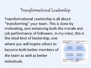 Transformational Leadership is all about transforming your team