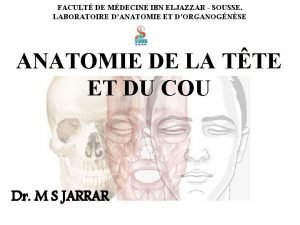 FACULT DE MDECINE IBN ELJAZZAR SOUSSE LABORATOIRE DANATOMIE