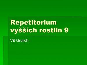 Repetitorium vych rostlin 9 Vt Grulich Poaceae soust
